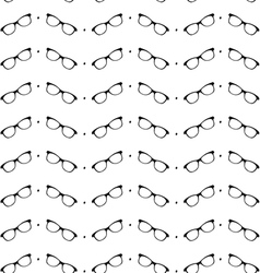 Seamless black and white pattern with eyeglasses vector image