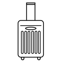 Travel luggage icon vector