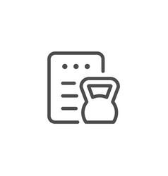 Fitness program line icon vector