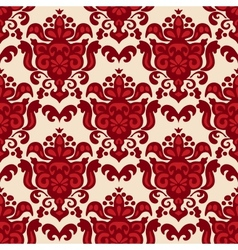 Damask medallion seamless pattern vector