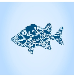 Fish an animal vector