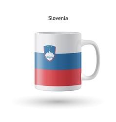 Slovenia flag souvenir mug on white background vector