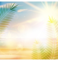 Tropical vintage palm background design vector
