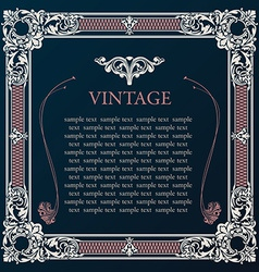 Label frame vintage tag decor medieval vector