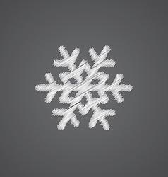 snowflake sketch logo doodle icon vector image