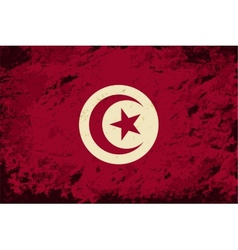 Tunisian flag grunge background vector