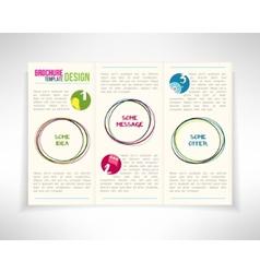 Modern three fold brochure leaflet flyer design vector image