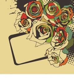 floral vector postcard vector image