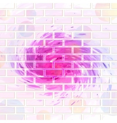 Brick wall graffiti vector