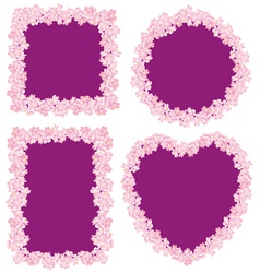 Flower frame four vector