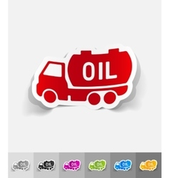 Realistic design element transportation of oil vector