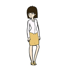 comic cartoon pretty businesswoman vector image
