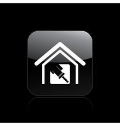 Home paint icon vector