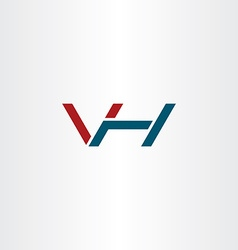 Letter v and h logo icon combination symbol vector