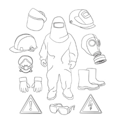 Protective clothing and equipment vector