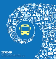 Bus sign symbol Nice set of beautiful icons vector image