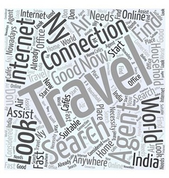 Air travel agents to india in ny word cloud vector