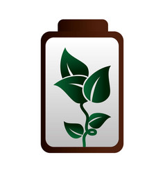 battery energy ecology icon vector image