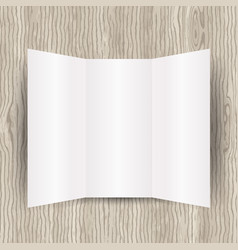 blank paper on wood background vector image vector image