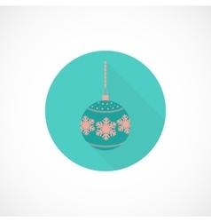 Christmas toy flat icon vector image vector image