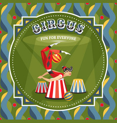 Circus card with acrobat girl vector