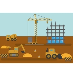 Construction Site Building House vector image
