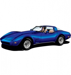 Corvette blue vector