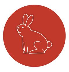 Cute rabbit pet icon vector