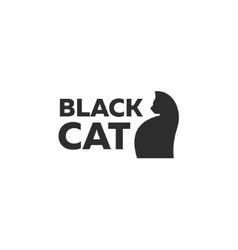 Design kitten logo minimal modern style new flat vector image vector image