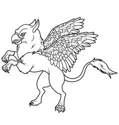 Flying griffin vector