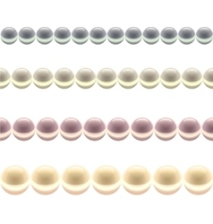 Glossy Colored Pearl Line vector image