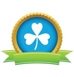 Gold shamrock logo vector