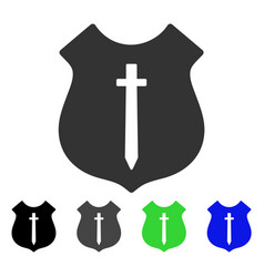 Guard shield flat icon vector