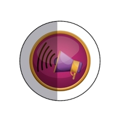 Isolaged megaphone design vector
