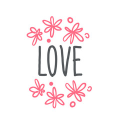 love logo template hand drawn vector image vector image