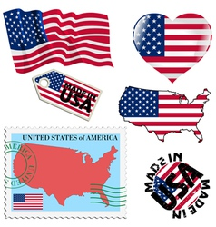 national colours of United States vector image vector image