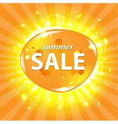 Orange Summer Sale Poster vector image vector image