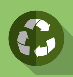 recycle arrows symbol isolated icon vector image