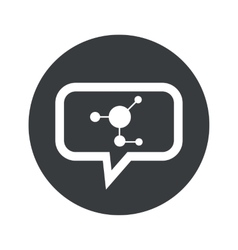 Round molecule dialog icon vector