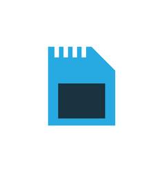 sd card colorful icon symbol premium quality vector image