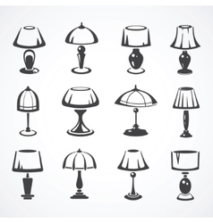 Set of table lamps vector image