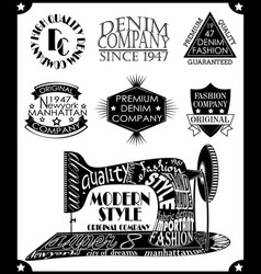 sewing symbol in retro vintage lettering vector image