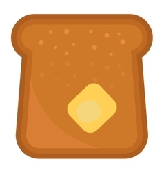 Slices of breakfast bread vector