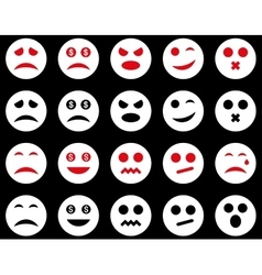 Smile and emotion icons vector image vector image