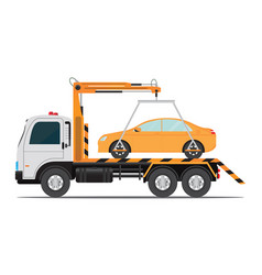 tow truck car for transportation vector image