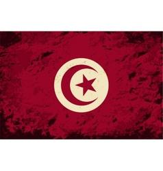 Tunisian flag grunge background vector