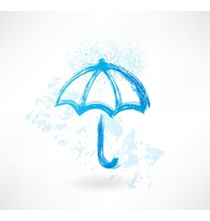 umbrella grunge icon vector image