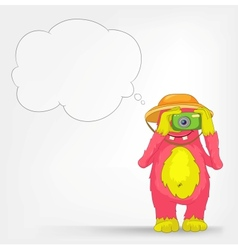 Funny Monster Tourist Photographer vector image