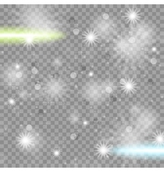 Shiny starry transparent sparkling effect vector