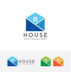 Simple house logo vector